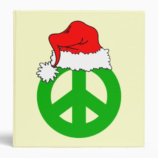 christmas peace symbol binder