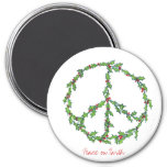 Christmas Peace Wreath magnet