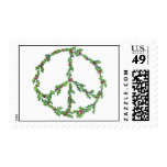 Christmas Peace Wreath Stamp