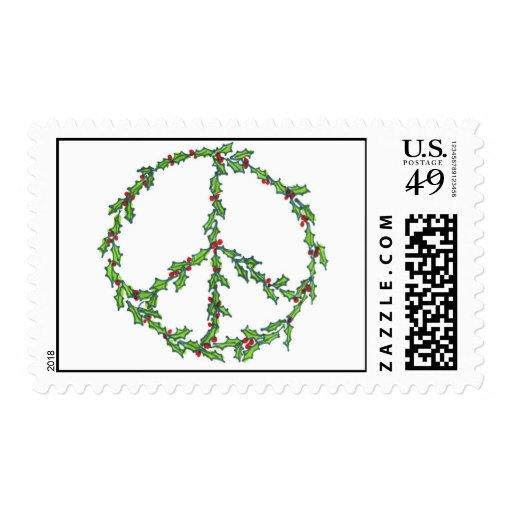 Christmas Peace Wreath Stamp