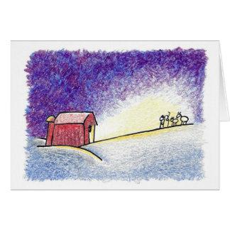 Christmas Peaceful Light Greeting Card
