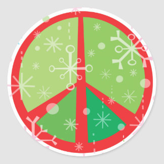 Christmas Peaces SIgn STICKERS