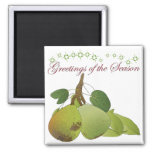 Christmas Pears Magnet