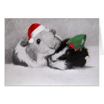 Christmas Peegs Guinea Pig Customizable Card
