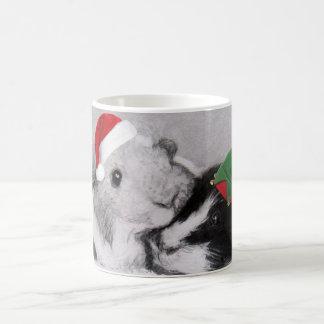 Christmas Peegs Guinea Pig Wraparound Classic White Coffee Mug