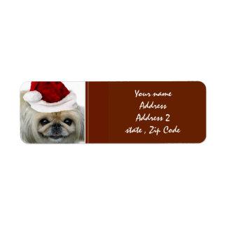 Christmas Pekingese  Address Labels
