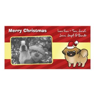 Christmas Pekingese (puppy cut) Card