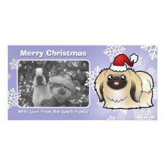 Christmas Pekingese (show cut) Card