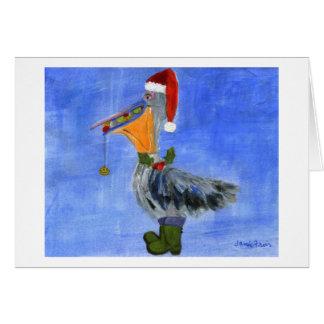 Christmas Pelican Card