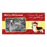 Christmas Pembroke Welsh Corgi Photo Card