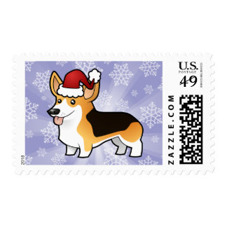 Christmas Pembroke Welsh Corgi Postage
