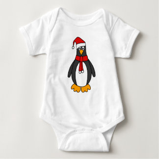 Christmas Penguin Baby Bodysuit