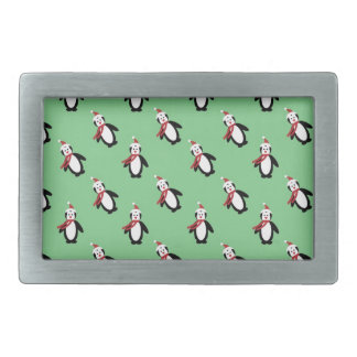 Christmas Penguin Belt Buckle