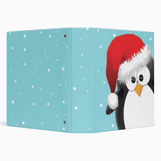 Christmas Penguin Binder