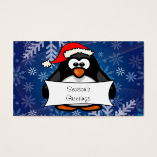 Christmas Penguin Business Card