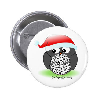 Christmas penguin 2 inch round button