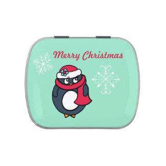 Christmas Penguin Candy Tin