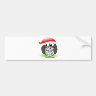 Christmas penguin car bumper sticker