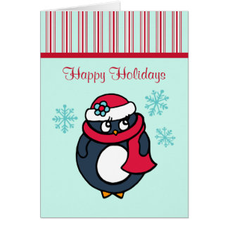 Christmas Penguin Card