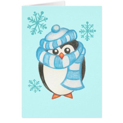 Christmas penguin card zazzle for Penguin christmas cards homemade