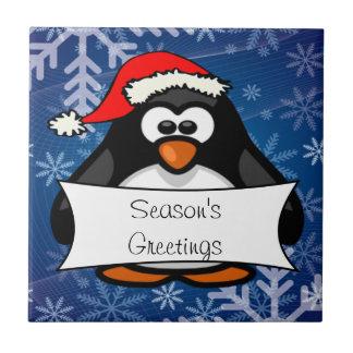 Christmas Penguin Ceramic Tile