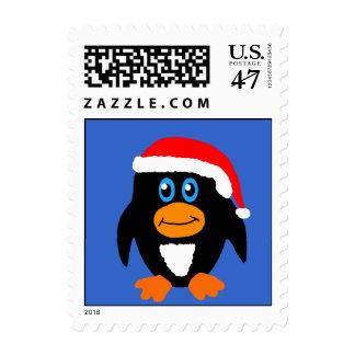 Christmas Penguin Custom Postage