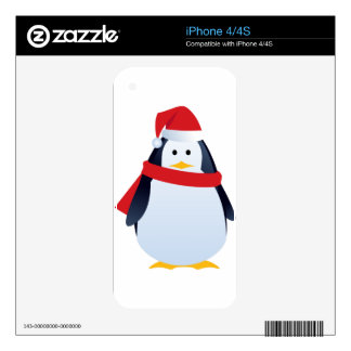 Christmas Penguin Decal For The iPhone 4