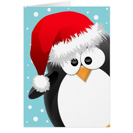 Christmas penguin greeting card zazzle for Penguin christmas cards homemade