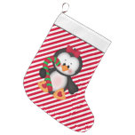 Christmas penguin Holiday cartoon stocking