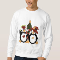 Christmas Penguin Holiday mens t-shirt