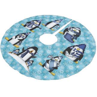 Christmas penguin Holiday tree skirt