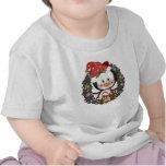 Christmas Penguin Holiday Wreath T-shirts