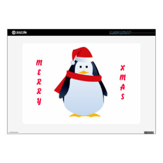 "Christmas Penguin In A Santa Hat 15"" Laptop Skins"