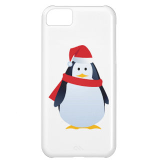 Christmas Penguin In A Santa Hat Cover For iPhone 5C