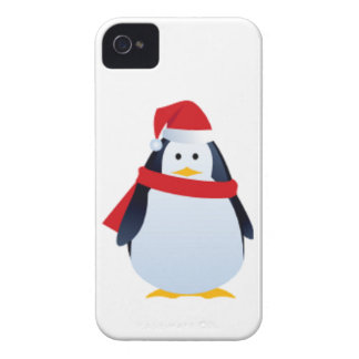 Christmas Penguin In A Santa Hat iPhone 4 Cover