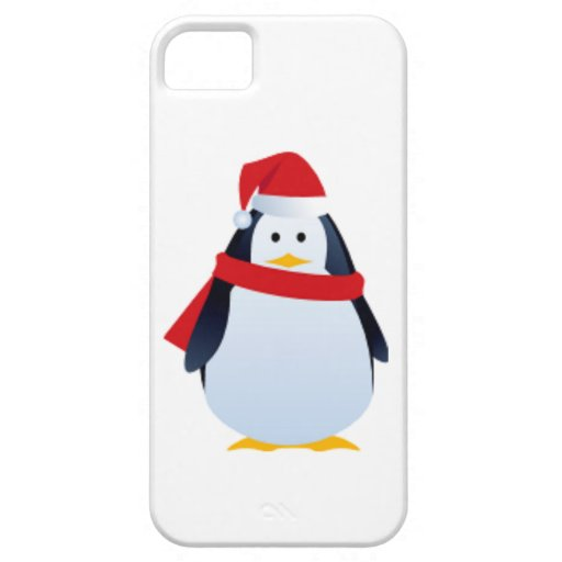 Christmas Penguin In A Santa Hat iPhone 5 Case