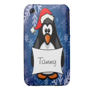 Christmas Penguin iPhone 3 Case-Mate Case