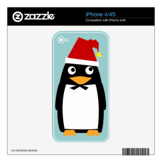 Christmas Penguin iPhone 4 Skins