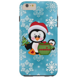 Christmas Penguin iPhone 6 plus tough case