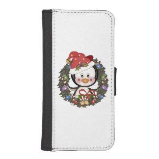 Christmas Penguin iPhone SE/5/5s Wallet Case