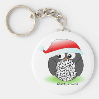 Christmas penguin keychain