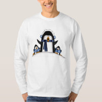 Christmas Penguin Mens Holiday t-shirt