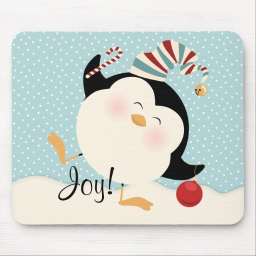 Christmas Penguin Mouse Pad
