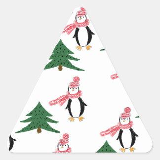 Christmas Penguin Muffin Triangle Sticker