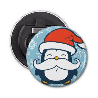 Christmas Penguin Mustache Trend Bottle Opener