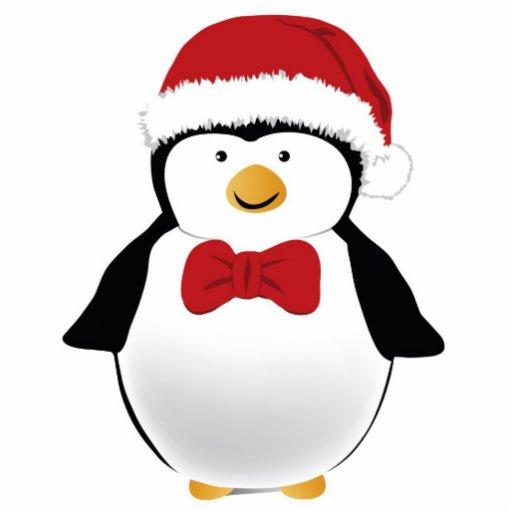 Christmas Penguin Ornament Acrylic Cut Out | Zazzle