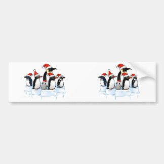 Christmas Penguin Party Bumper Stickers