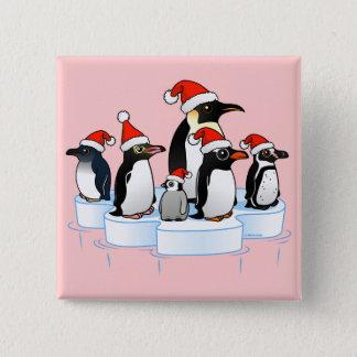 Christmas Penguin Party Button