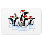 Christmas Penguin Party Flexible Magnet
