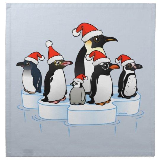 Christmas Penguin Party Napkin